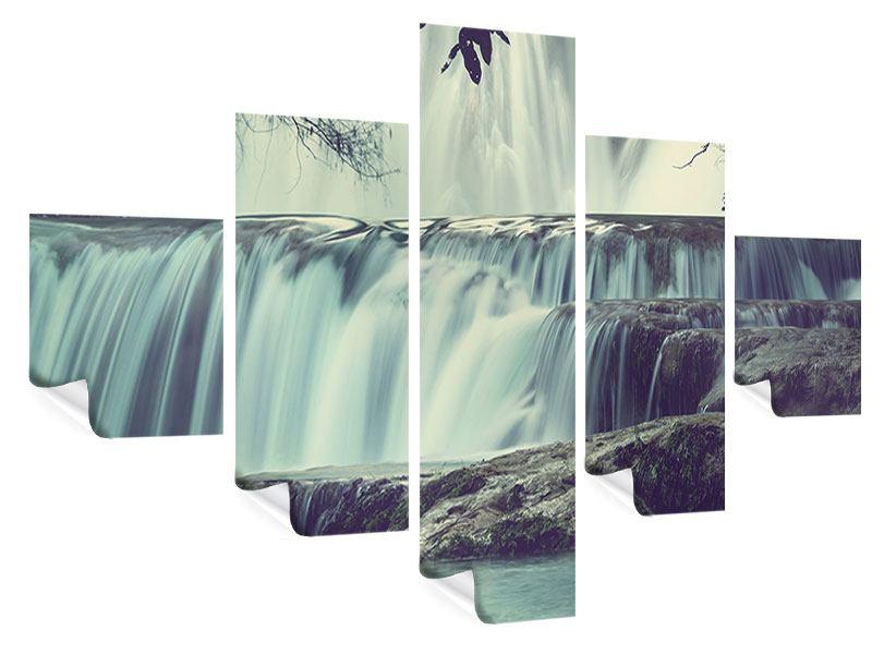 Poster 5-teilig Wasserfall Mexiko