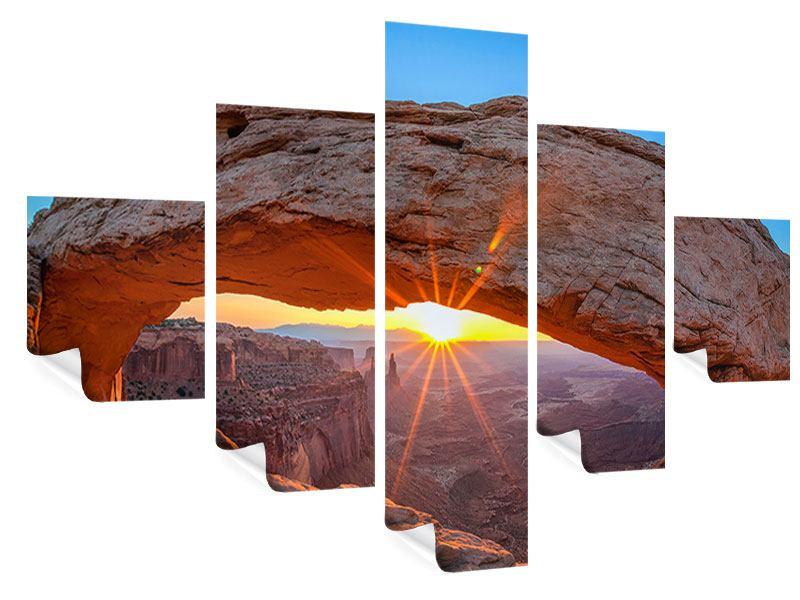 Poster 5-teilig Sonnenuntergang am Mesa Arch