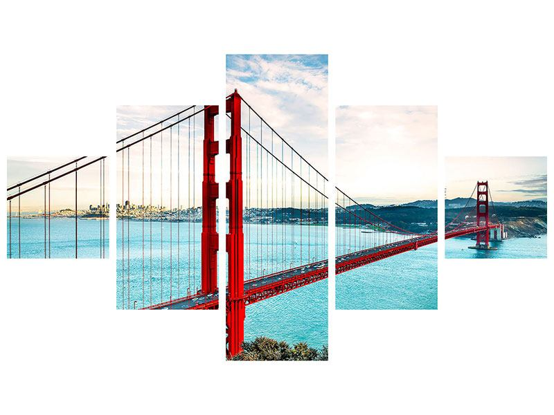 Poster 5 Teilig Golden Gate Bridge