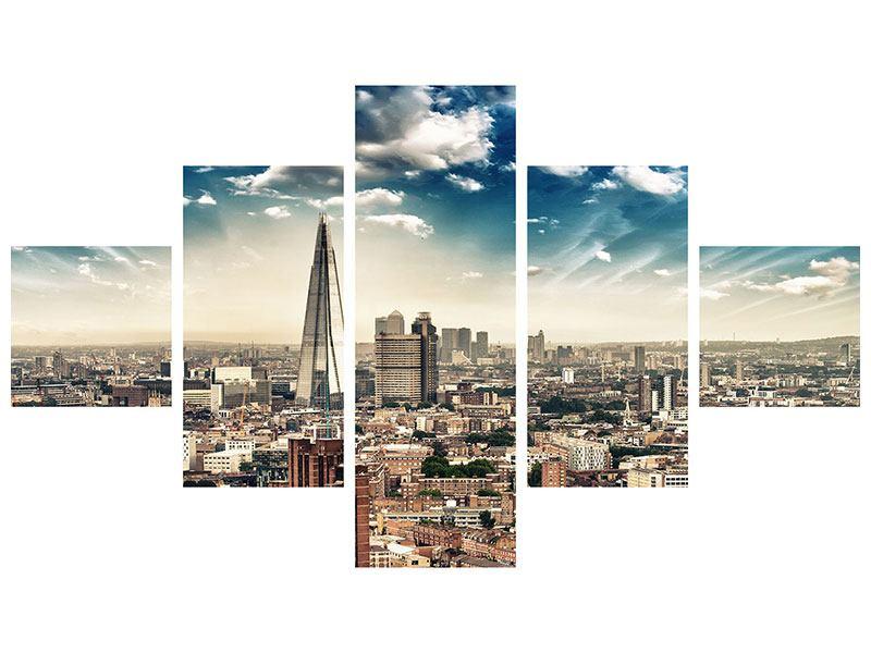 Poster 5-teilig Skyline Über den Dächern von London