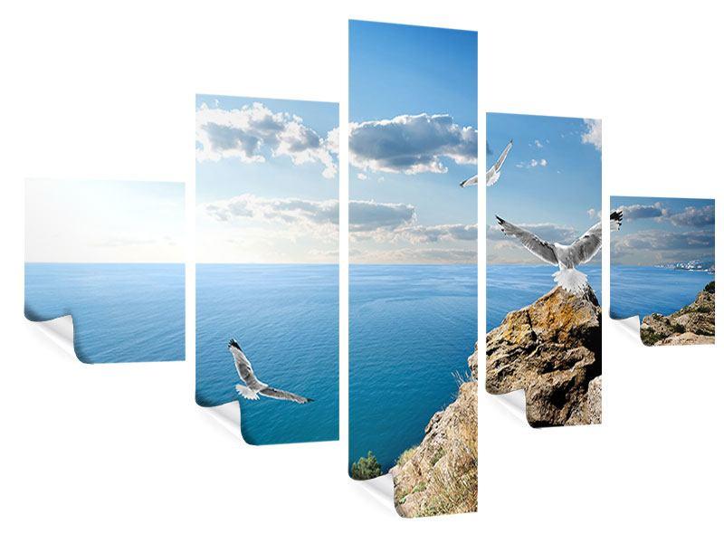 Poster 5-teilig Die Möwen und das Meer
