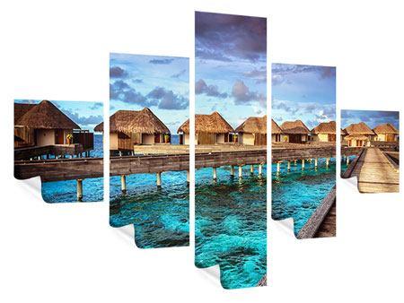Poster 5-teilig Traumhaus im Wasser