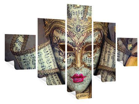 Poster 5-teilig Venezianische Maske