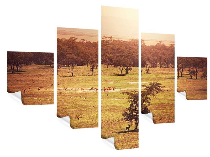 Poster 5-teilig Malerisches Afrika