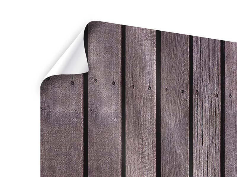 Poster 5-teilig modern Holzwand