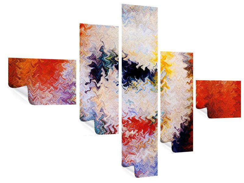 Poster 5-teilig modern Wandmalerei