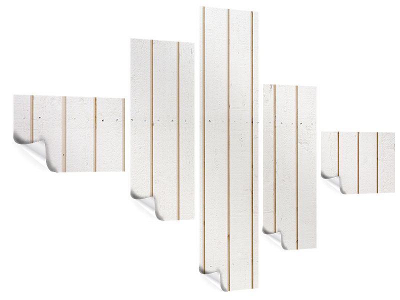 Poster 5-teilig modern Mediterranes Holz