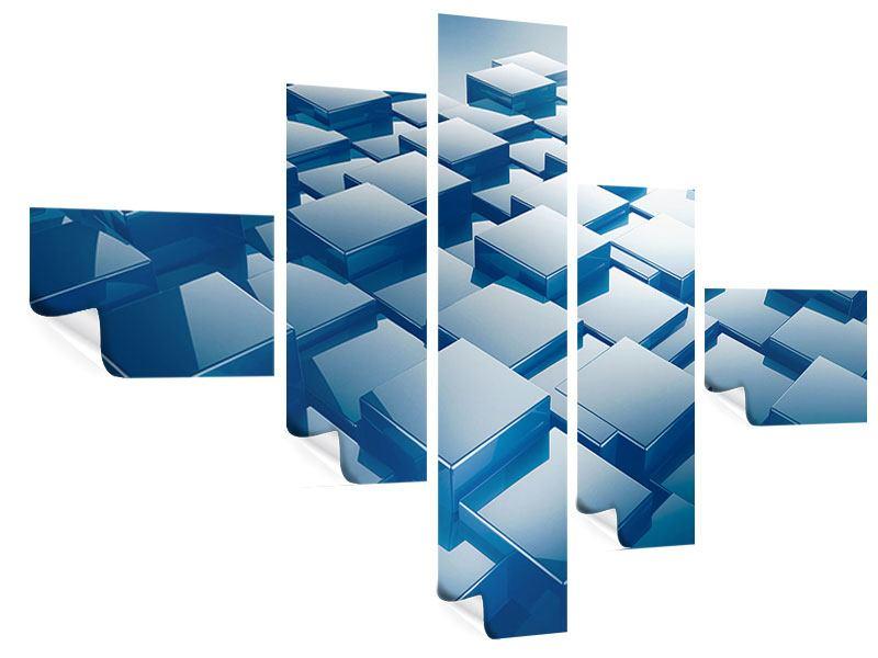 Poster 5-teilig modern 3D-Cubes