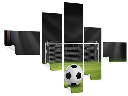 Poster 5-teilig modern Fussball-Tor
