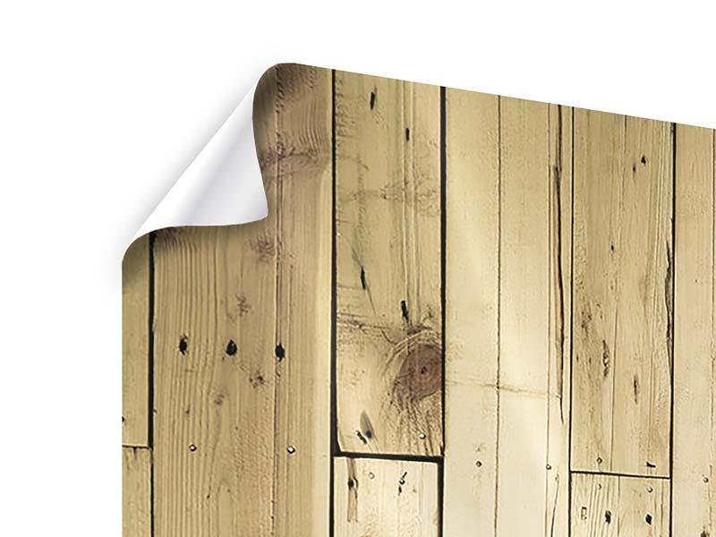 Poster 5-teilig modern Holzpaneelen