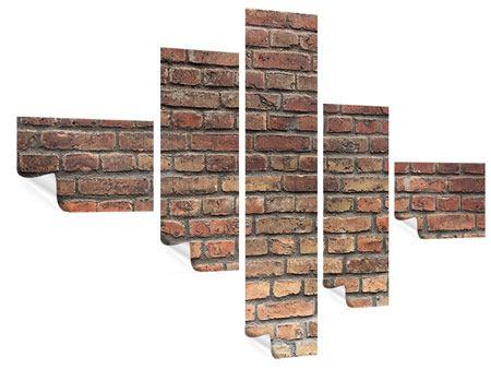 Poster 5-teilig modern Brick Wall