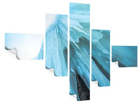 Poster 5-teilig modern Die Eiswand