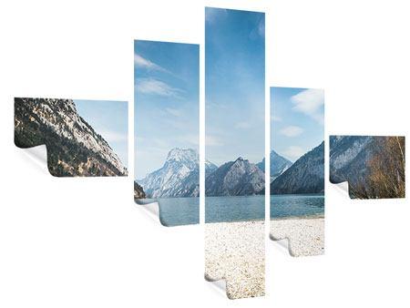 Poster 5-teilig modern Der idyllische Bergsee