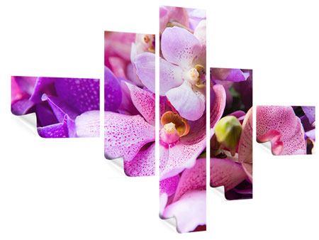 Poster 5-teilig modern Im Orchideenparadies
