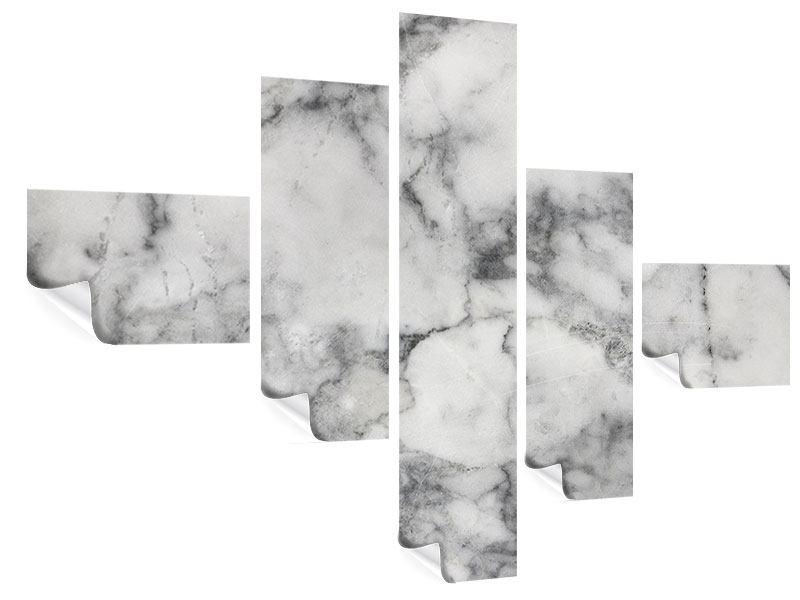 Poster 5-teilig modern Klassischer Marmor