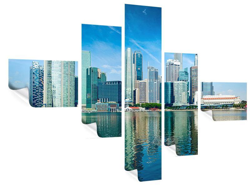Poster 5-teilig modern Skyline Mexiko-Stadt
