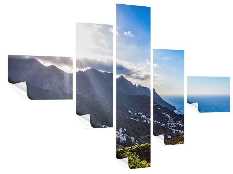 Poster 5-teilig modern Der Frühling in den Bergen