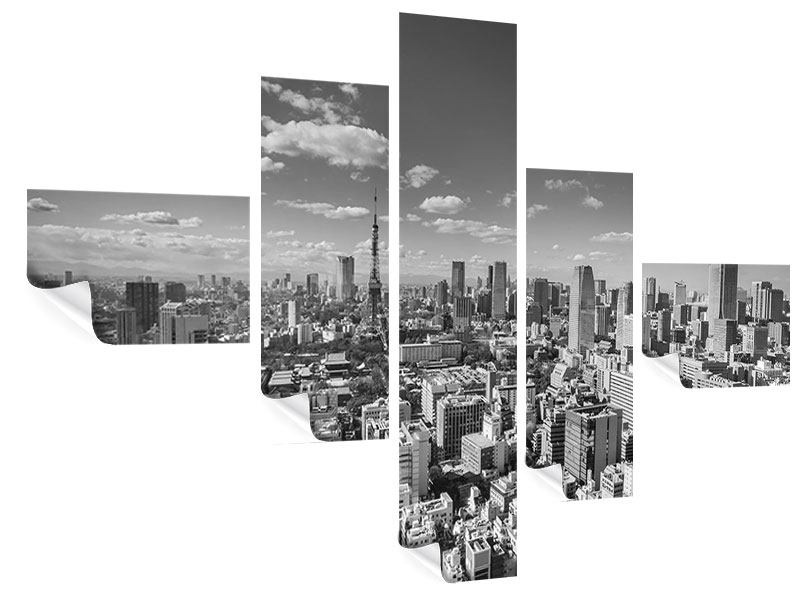 Poster 5-teilig modern Tokio