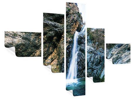 Poster 5-teilig modern Bewegtes Wasser