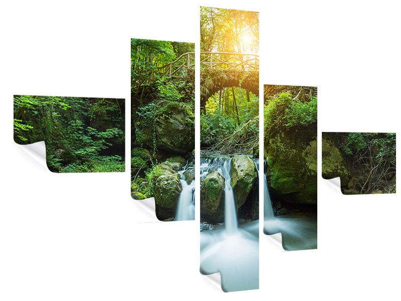 Poster 5-teilig modern Wasserspiegelungen
