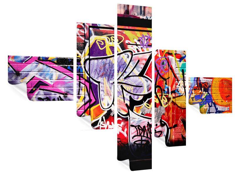 Poster 5-teilig modern Graffiti Kunst