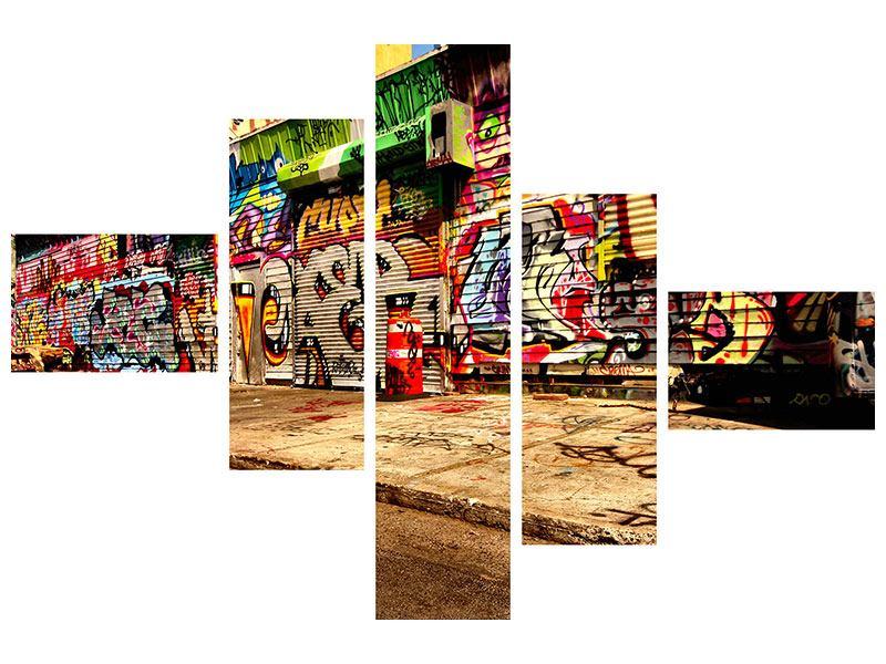 Poster 5-teilig modern NY Graffiti