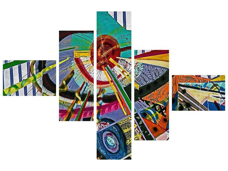 Poster 5-teilig modern Künstlerisches Graffiti
