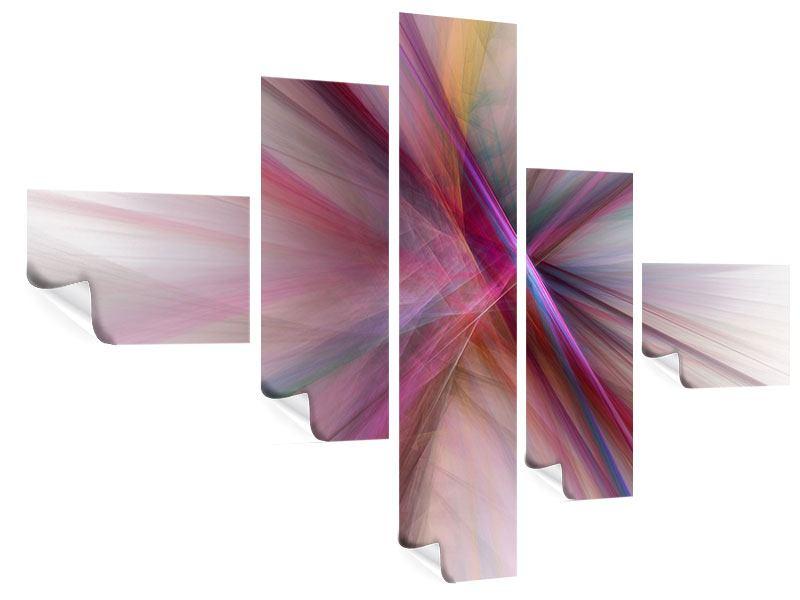Poster 5-teilig modern Abstraktes Lichterleuchten