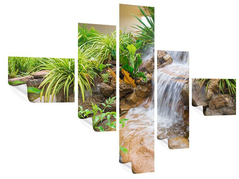 Poster 5-teilig modern Paradiesgarten