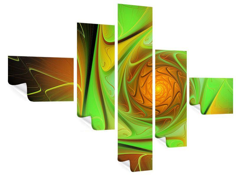 Poster 5-teilig modern Abstraktionen