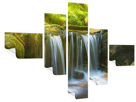 Poster 5-teilig modern Schönheit des fallenden Wassers