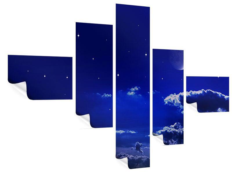Poster 5-teilig modern Der Nachthimmel