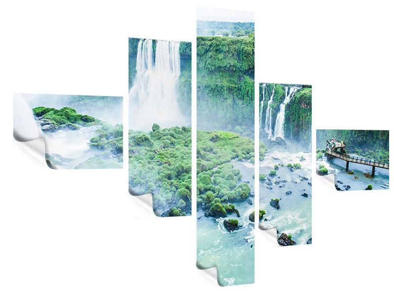 Poster 5-teilig modern Wasserfälle