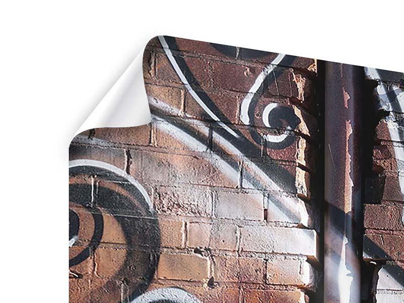 Poster 5-teilig modern Graffiti Mauer