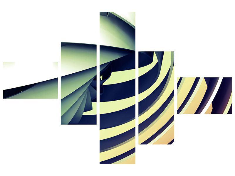 Poster 5-teilig modern Abstrakte Perspektiven