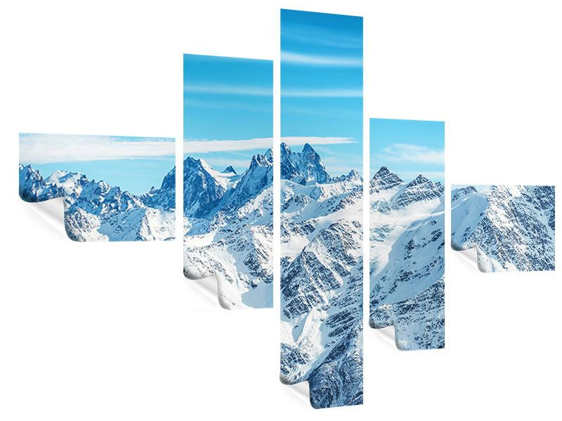 Poster 5-teilig modern Alpenpanorama