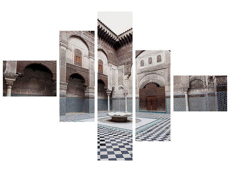 Poster 5-teilig modern Orientalischer Hinterhof