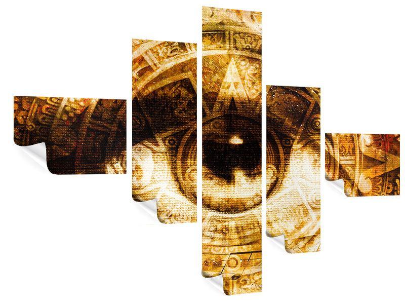 Poster 5-teilig modern Fraktales Auge