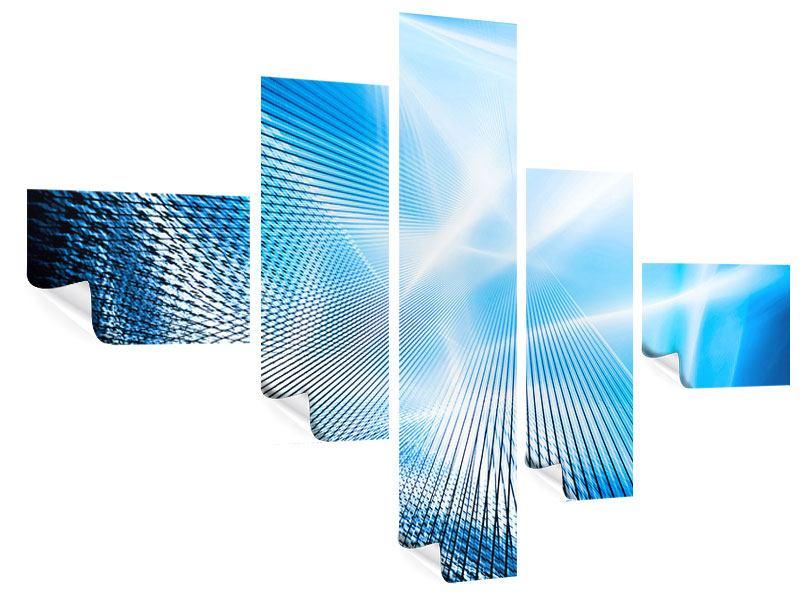 Poster 5-teilig modern Laser