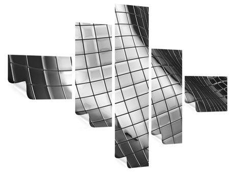 Poster 5-teilig modern Abstrakter Stahl