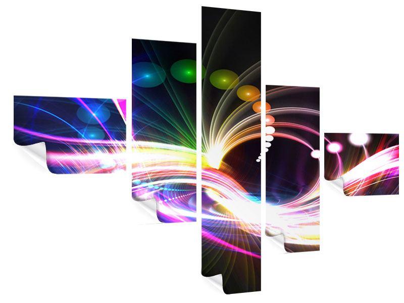 Poster 5-teilig modern Abstrakte Lichtreflexe