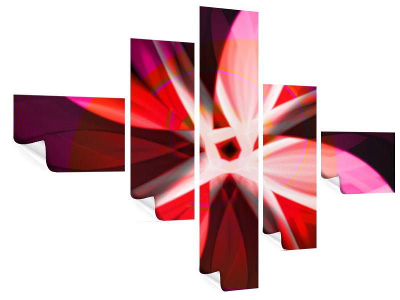 Poster 5-teilig modern Abstrakt Flower Power
