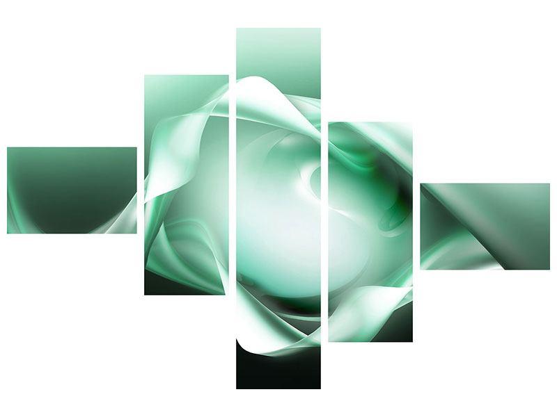 Poster 5-teilig modern Abstrakt Tuchfühlung