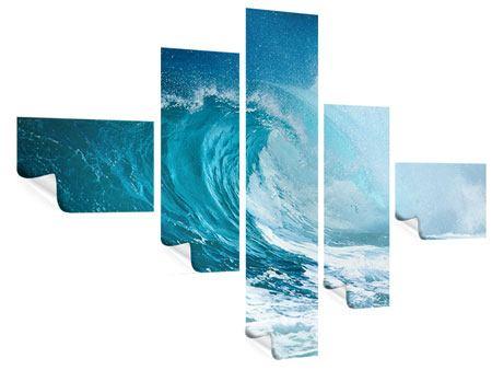 Poster 5-teilig modern Die perfekte Welle