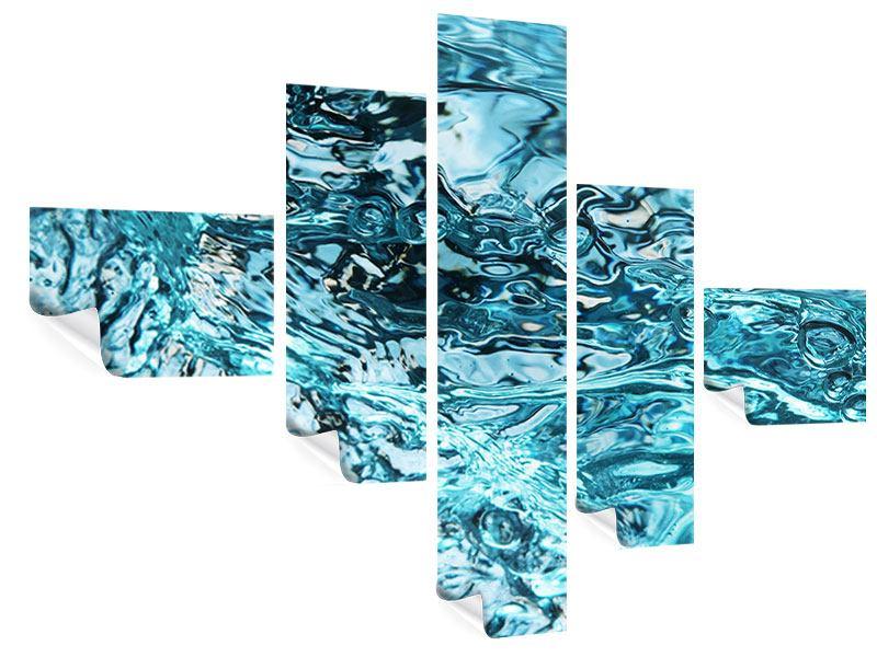Poster 5-teilig modern Schönheit Wasser