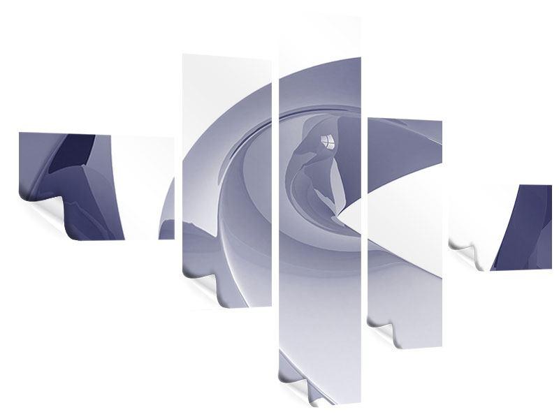 Poster 5-teilig modern Abstrakte Schwingungen
