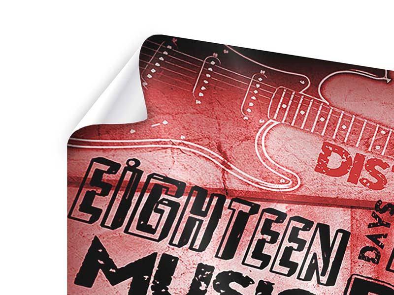 Poster 5-teilig modern Writings Music Grunge