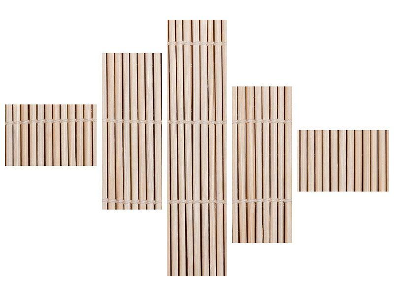 Poster 5-teilig modern Lucky Bamboo