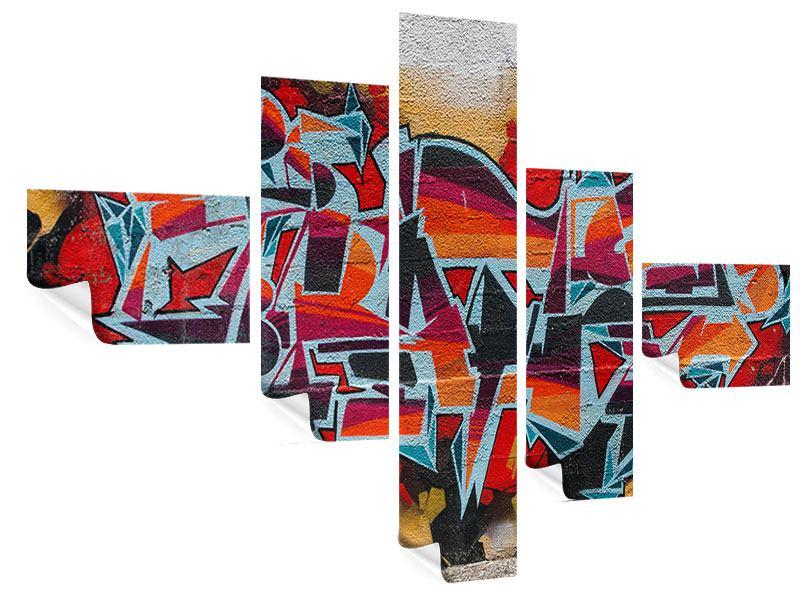 Poster 5-teilig modern New York Graffiti
