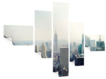 Poster 5-teilig modern NYC